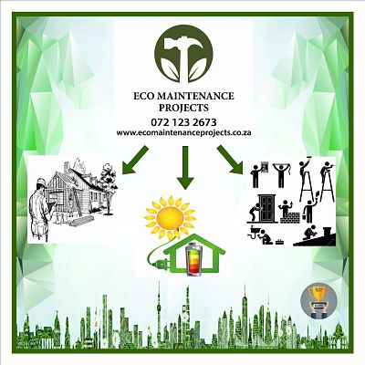Eco Maintenance. This logo was designed in Johannesburg South Africa