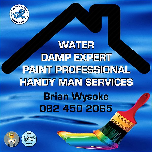 Business Connect 360 has an Elite member that can work with Water and damp problems. Brian Wysoke is also a Handy man. This logo was designed by Business Connect 360 in Johannesburg South Africa