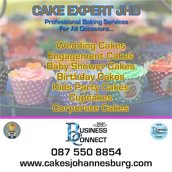 Cakes Johannesburg can help you with your Party or Wedding cakes and cupcakes. They also do Corporate functions and special occasions like baby showers and kids parties. This logo was designed in Johannesburg South Africa